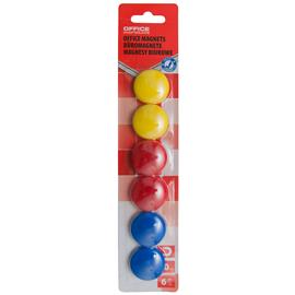 Magnesy kolorowe Office Products 30mm (6)