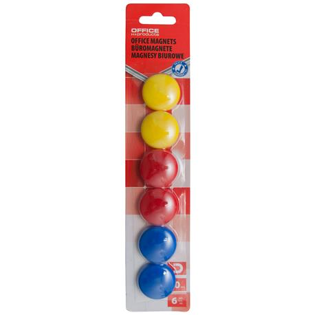 Magnesy kolorowe Office Products 30mm (6)-21323