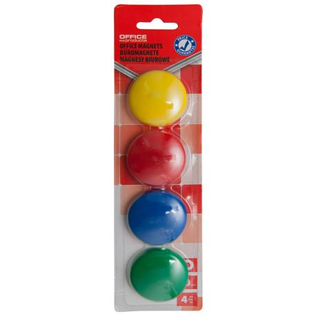 Magnesy kolorowe Office Products 40mm (4)-21324