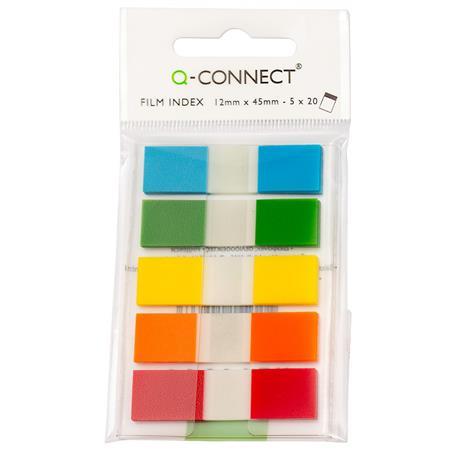 Zakładki indeks.Q-Connect PP 12x45 5 kol.-21333