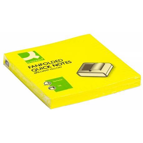 Bloczek Q-connect Z-notes 76x76 jasny żółty -21335