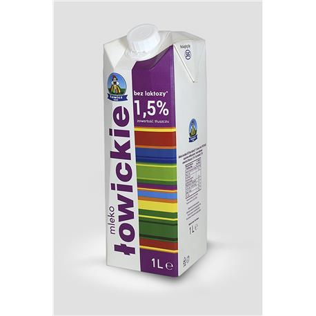 Mleko Łowickie bez laktozy 1,5% 1L -21714
