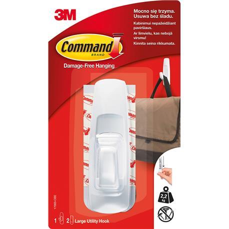 Haczyk Command wielokrotnego użytku 2,2kg biały-22025