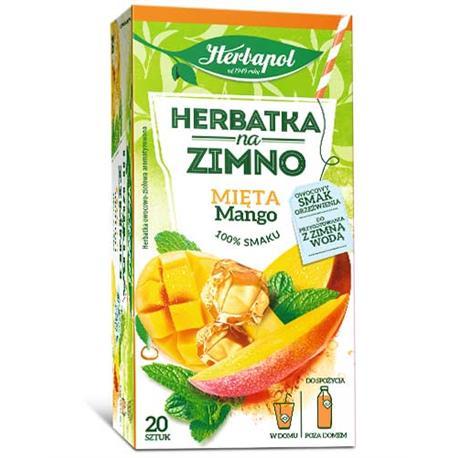 Herbata Herbapol na zimno Mięta Mango (20)-22030