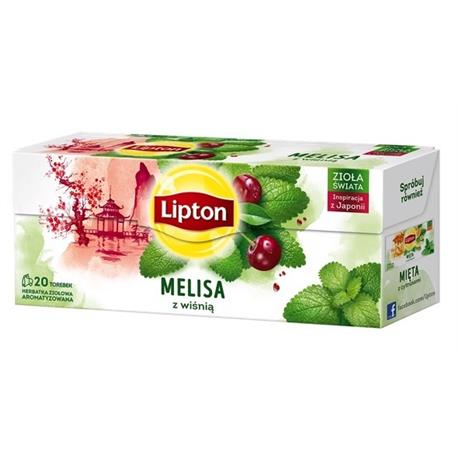 Herbata Lipton Melisa z wiśnią 20 t *-22049