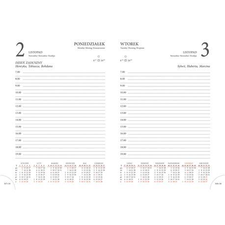 Kalendarz książk.A5 Beskidy Lux K7 ukł.dzienny-22563