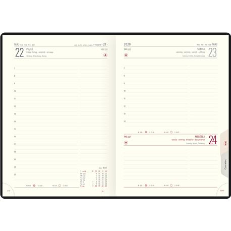 Kalendarz książk.A5 Telegraph LUX układ dzienny-22575