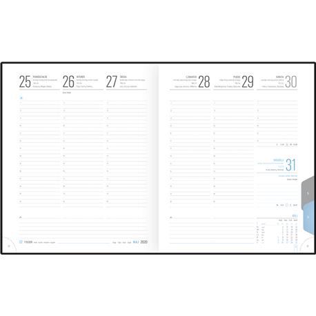 Kalendarz książk.A5 Telegraph PLUS ukł.tygodn.-22581