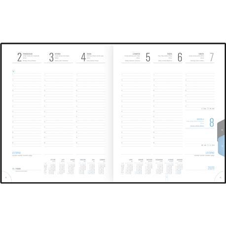 Kalendarz książk.B5 Telegraph Plus ukł.tygod.-22643