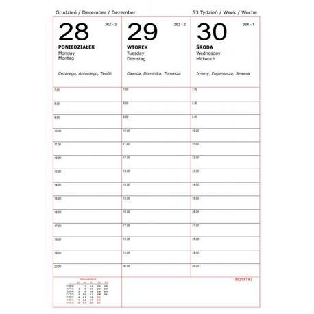 Kalendarz książk.B5 Beskidy C1 ukł.tygodniowy-13600