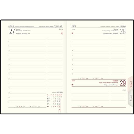 Kalendarz książk.B6 Telegraph LUX układ dzienny-22654