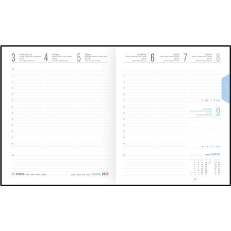Kalendarz książk.B6 Telegraph Plus układ tygod.-22660