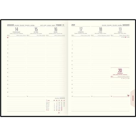 Kalendarz książk.A5 Telegraph CLASSIC ukł.tygodn-22569
