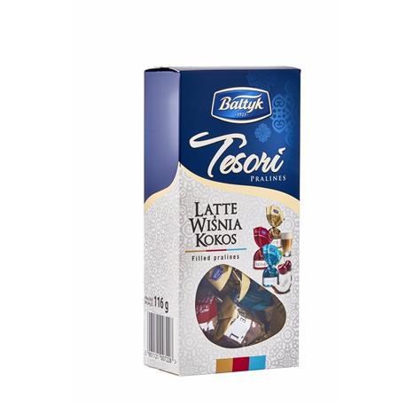 Czekoladki Bałtyk Praliny Tesori Latte Wiśnia 116g-22910