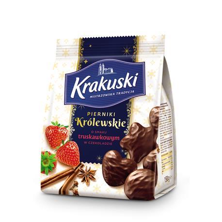 Ciastka Krakuski Pierniki Królewskie truskawk.150g-22928