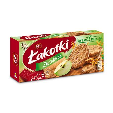 Ciastka San Łakotki Złotokłose 171g owsiane jabłko-23115