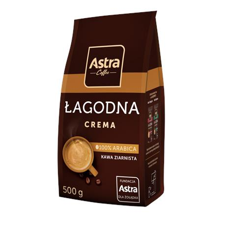 Kawa Astra Crema łagodna ziarnista 500g-23123