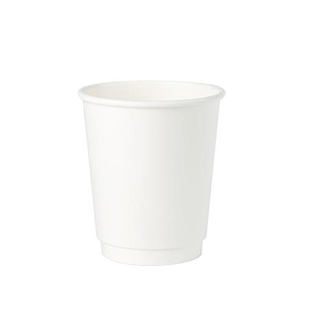 Kubek papierowy 300ml dwuwarstw.bia/bia (25)-23091