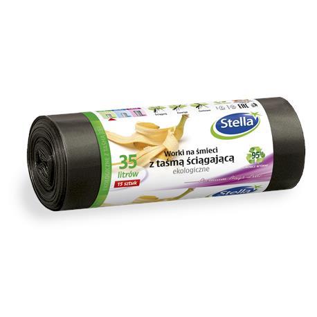 Worki 35L ekologiczne z taśmą LDPE (15) Stella-23696