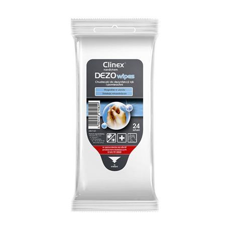 Chusteczki do dezynfekcji Clinex Dezowipes 24 szt.-23865