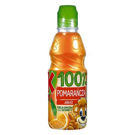 Sok Kubuś 100% pomarańcza, jabłko 300 ml-23999