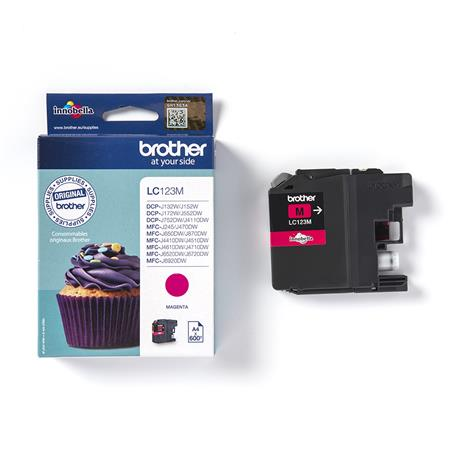 Tusz Brother LC123M magenta na 600 stron-24515