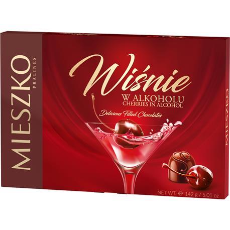 Bombonierka Mieszko Wiśnie w alkoholu 142g-24540
