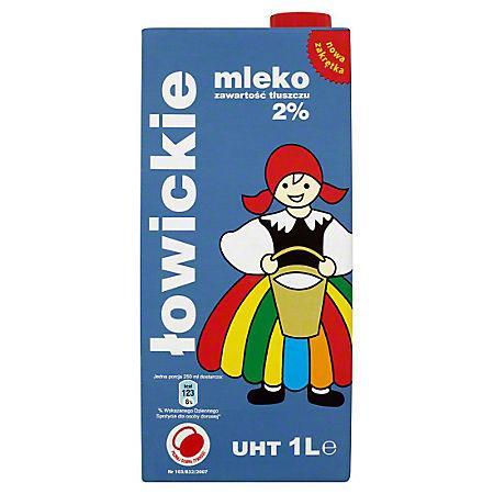 Mleko Łowickie 2% 1L (12 szt)-12467
