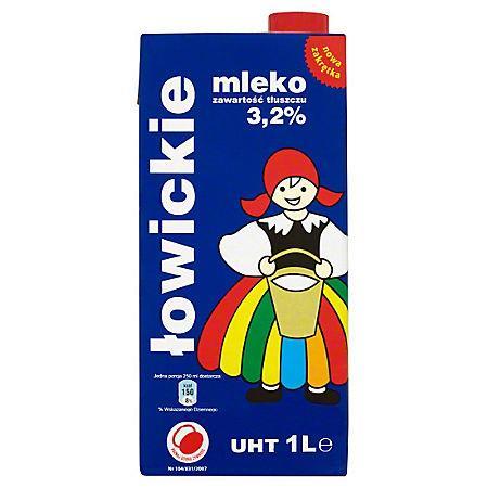 Mleko Łowickie 3,2% 1L (12 szt)-12468