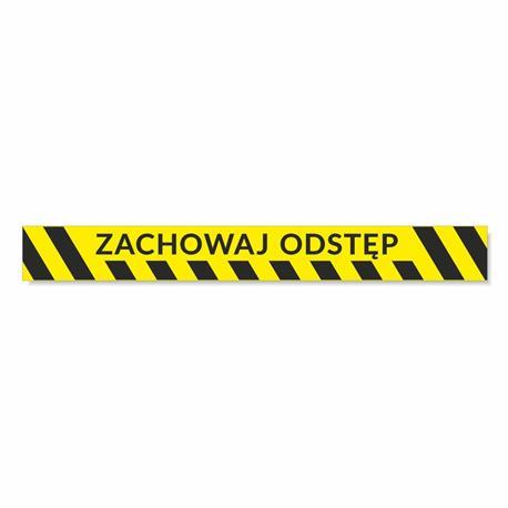 Naklejki ZACHOWAJ ODSTĘP 68x8cm 5 szt.-24824