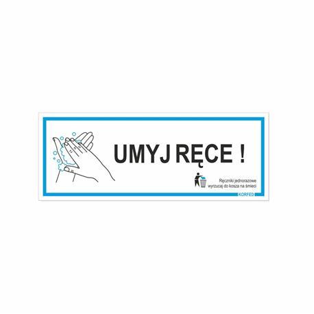 Tabliczka UMYJ RĘCE 21x8 cm-24829