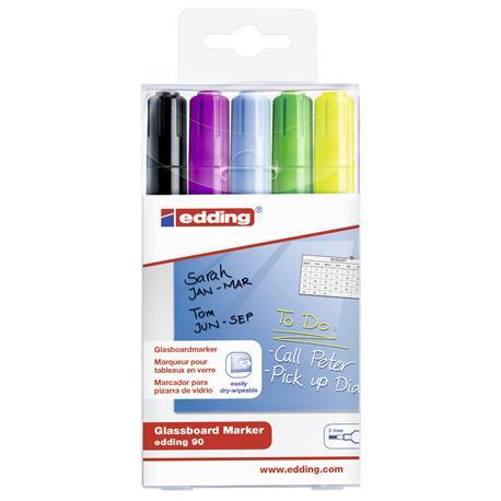 Marker do szklanych tablic Edding 90 czar mix (5)-24868