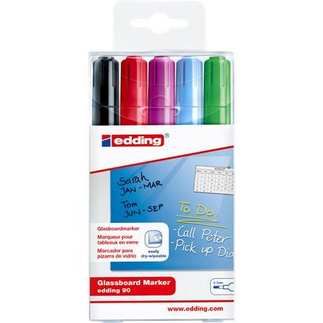 Marker do szklanych tablic Edding 90 mix (5)-24870