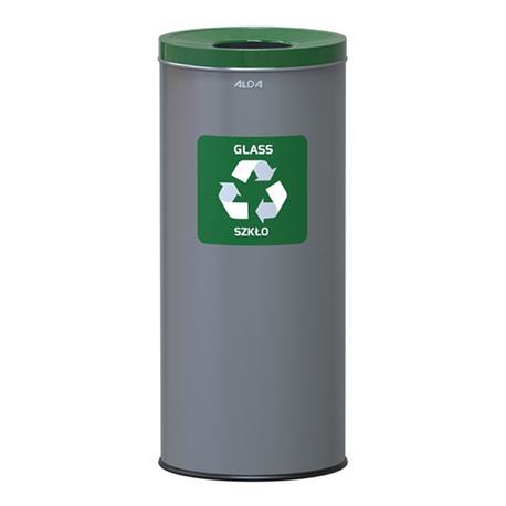 Kosz do segregacji śmieci Alda Eko 45L szary/zielo-25135
