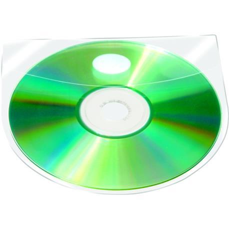 Kieszeń samoprz.QC na CD/DVD z klapką (10)-10144