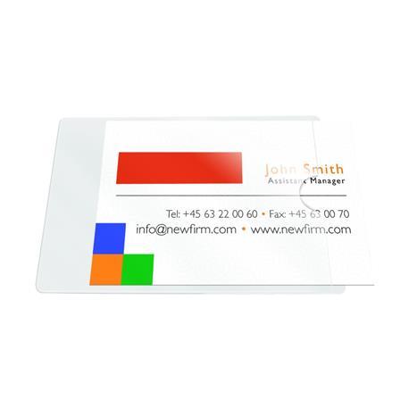 Kieszeń samoprz.QC na wizytówki kr. bok 60x95 (10)-5563
