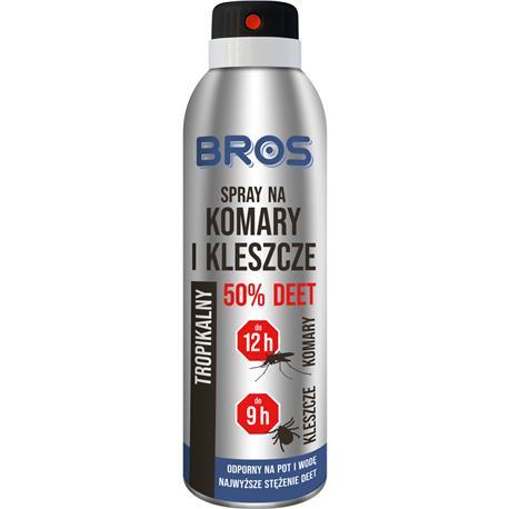 Bros spray na komary i kleszcze 50% deet 180ml-25672