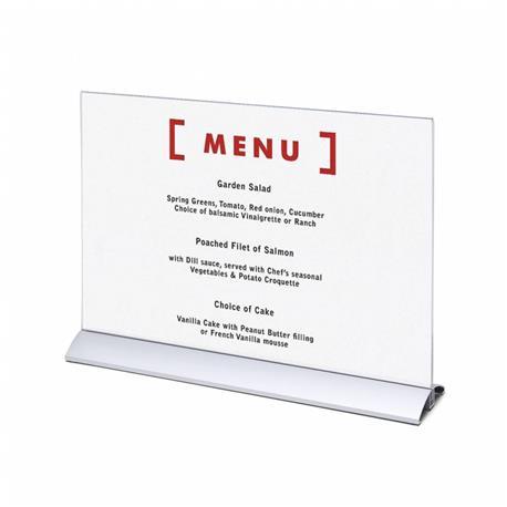 Stojak na menu A3 (297x420 mm) alumin.poziomy-26060