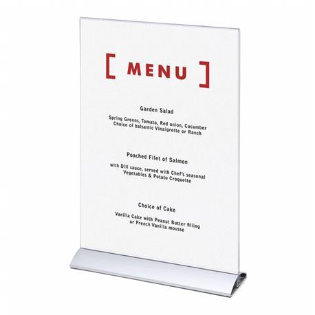 Stojak na menu A3 (297x420 mm) alumin.pionowy-26075