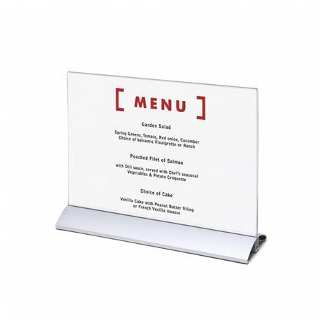 Stojak na menu A4 (210x297 mm) alumin.poziomy-26065