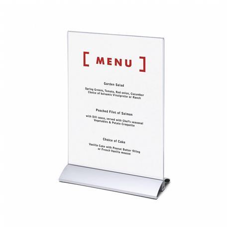 Stojak na menu A4 (210x297 mm) alumin.pionowy-26078
