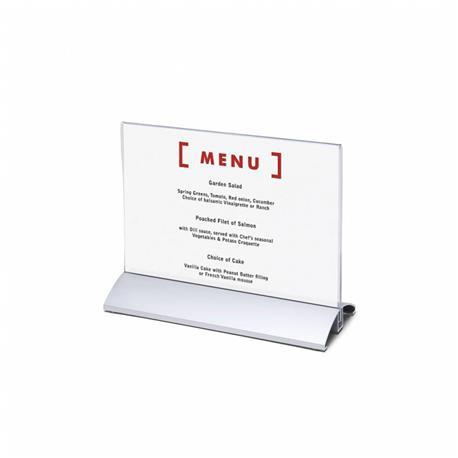 Stojak na menu A5 (148x210 mm) alumin.poziomy-26068