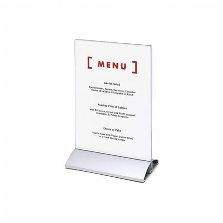 Stojak na menu A5 (148x210 mm) alumin.pionowy-26081