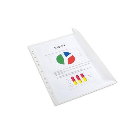 Koszulki A4 Bantex Maxi grosz z klapką 110mic.(10)-26750